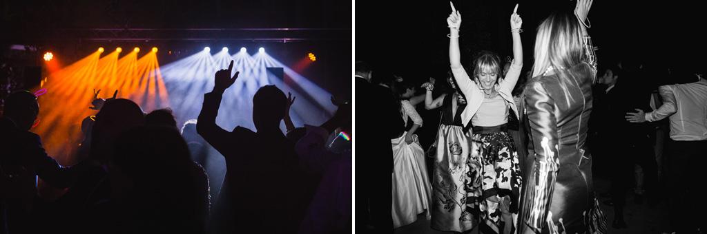 Silhouette degli invitati durante i balli