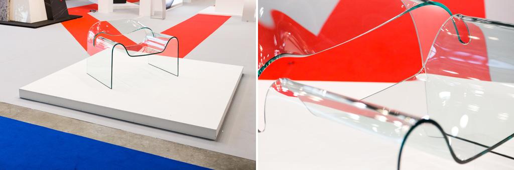 Le linee curve di un vetro esposto