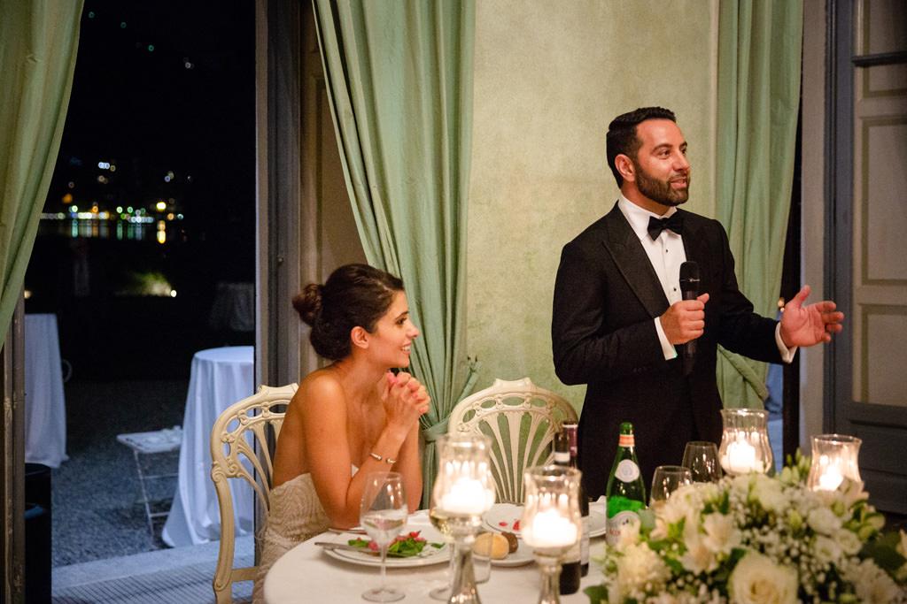 Il discorso dello sposo a Villa Revel Parravicini sul Lago di Como