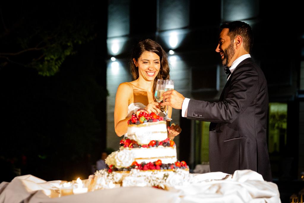 brindisi torta nuziale matrimonio shahram e samin villa parravicini revel lago di como