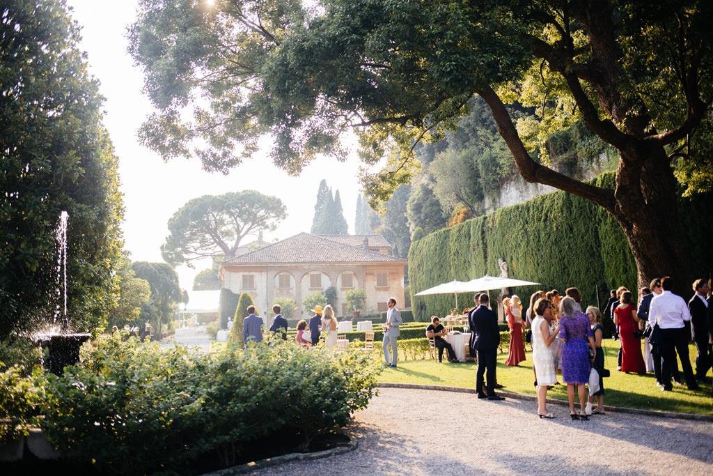 Il giardino di Villa Pizzo durante il ricevimento