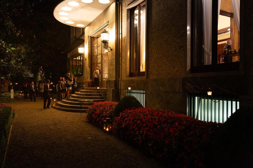 Uno scatto dell'ingresso di Villa Necchi Campiglio