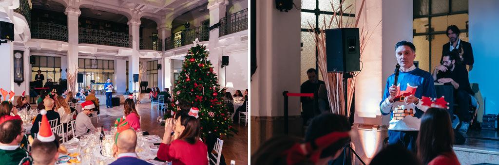 Alcuni scatti del proseguimento della cena durante il discorso di auguri per anno nuovo di maggior successo