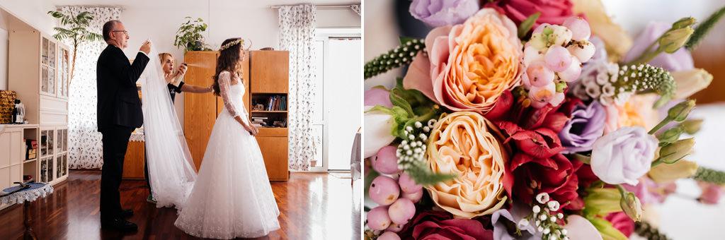 la vestizione della sposa e il suo bouquet matrimonio andrea e cristina milano