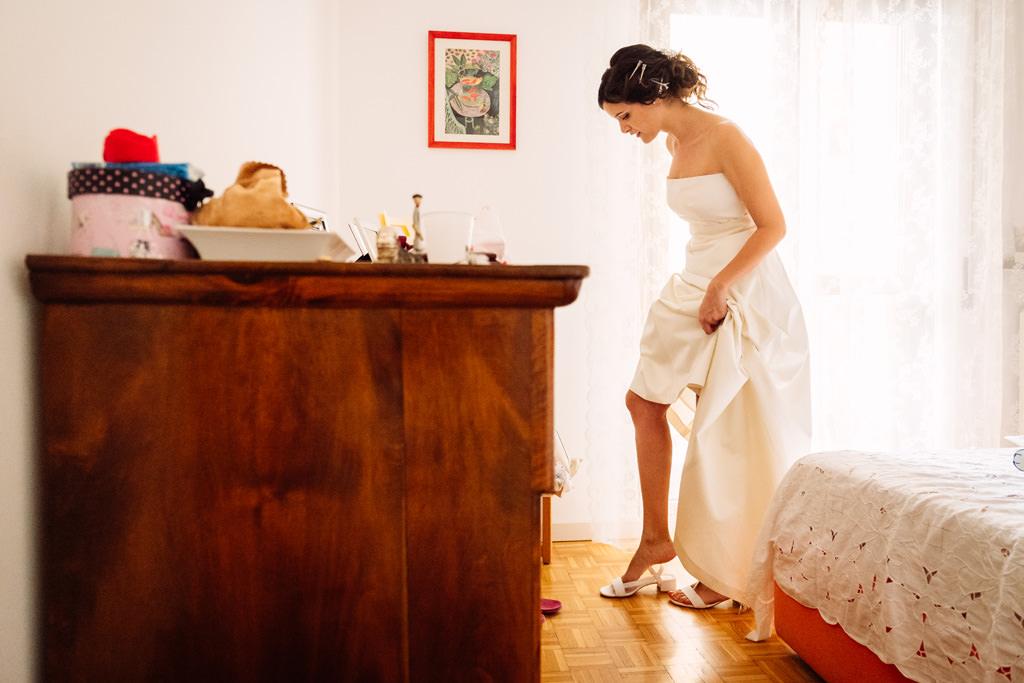 la sposa indossa le scarpe - matrimonio luis e giovanna milano
