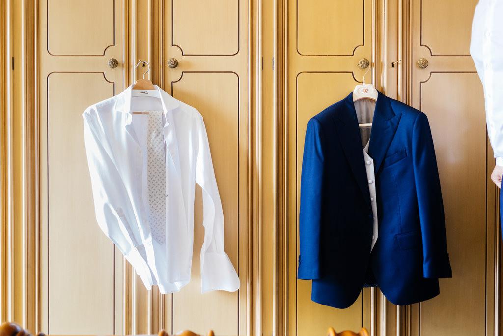 la camicia e la giacca dello sposo matrimonio andrea e cristina milano