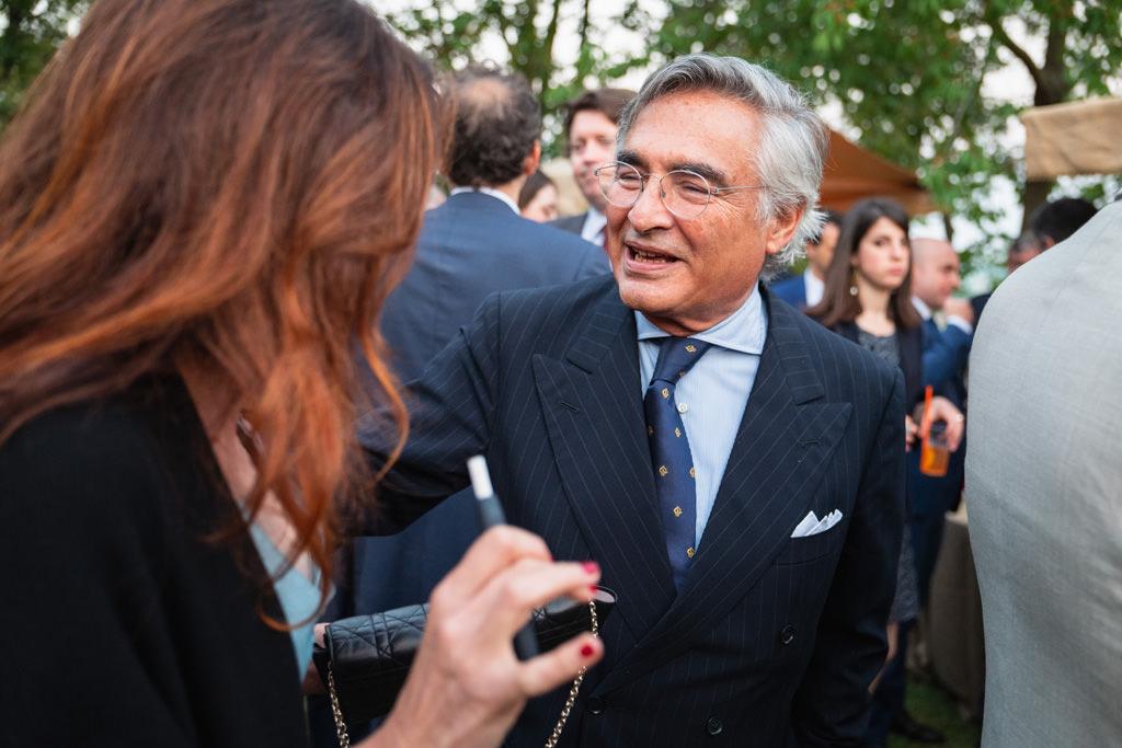 Un ritratto dell'avvocato Raffaelli durante la Cena di Gala del Convegno Antitrust in Treviso