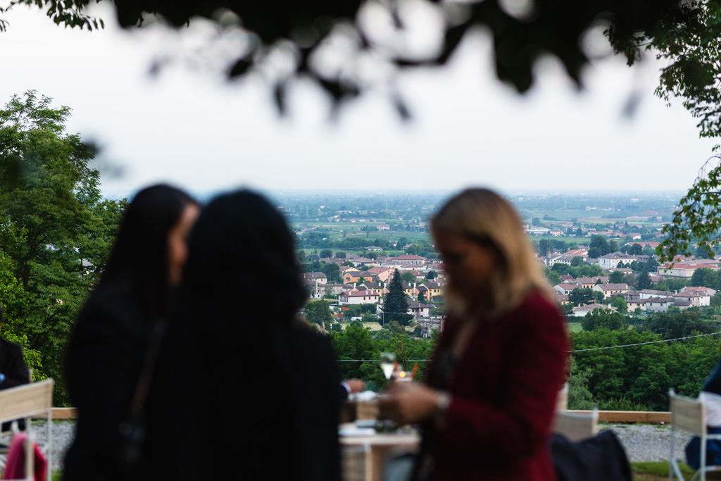 La splendida vista dalla Terrazza Serenissima del paesaggio di Treviso