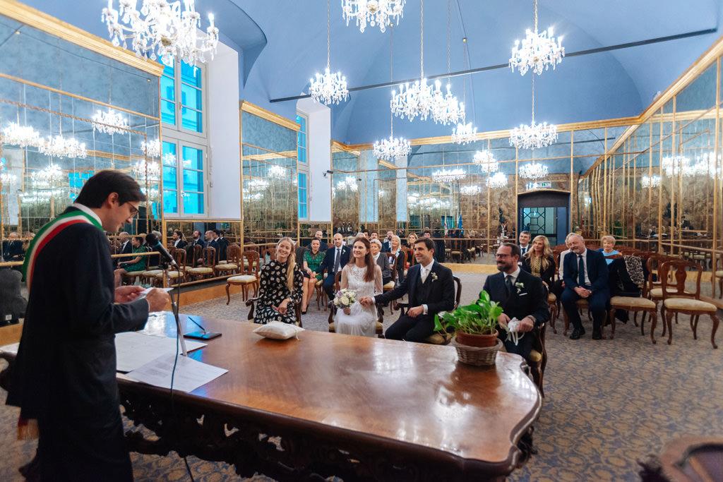 La cerimonia di matrimonio di Yulia e Andrea a Palazzo Reale di Milano