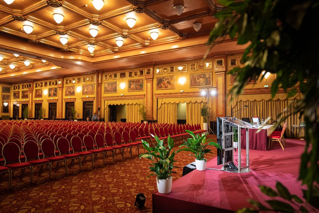Uno scorscio della sala dedicata alla conferenze dell'European Urogynaecology Association, uno scatto di Alessandro Della Savia fotografo di eventi