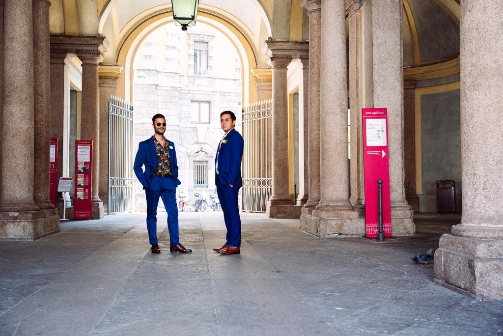 Lo sposo e il testimone a Palazzo Reale