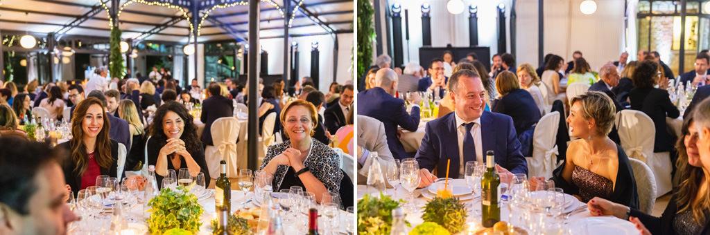 Alcuni scatti degli invitati mentre conversano durante la Cena di Gala