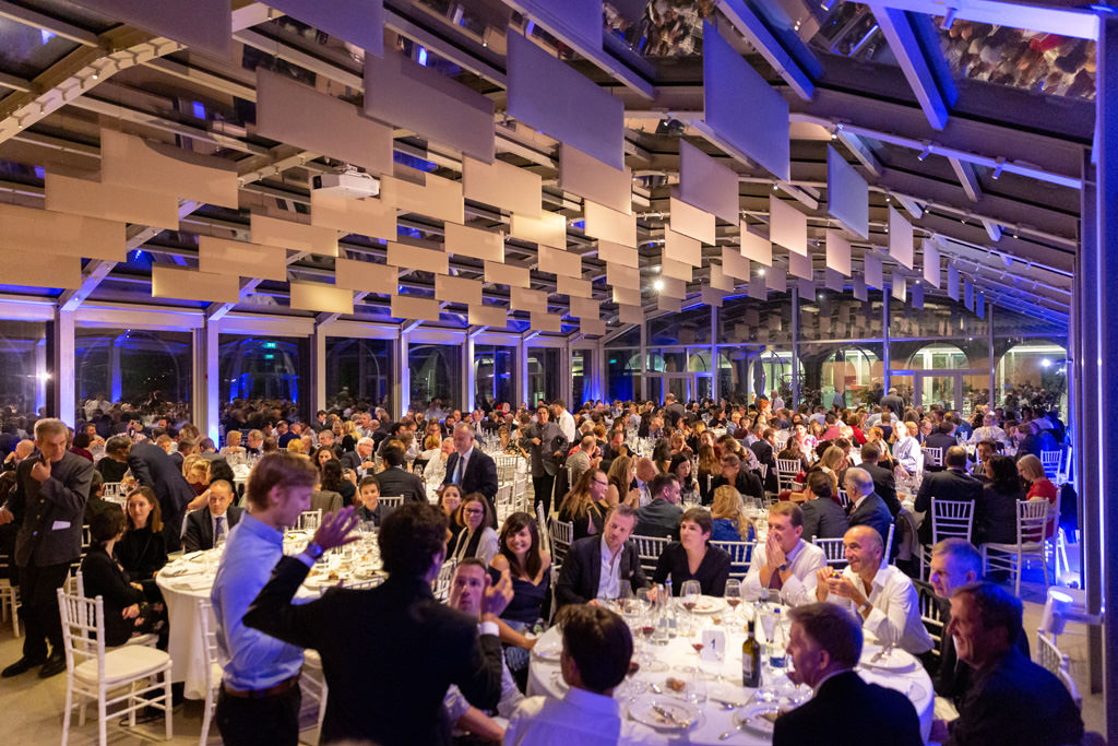 Uno scorcio della splendida location di Villa Necchi Campiglio che ospita la cena di gala dell'EUGA documentata dl fotografo di cene aziendali Alessandro Della Savia
