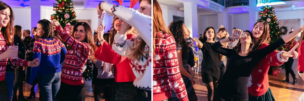 Le invitate si lanciano in balli impazziti riprese da Alessandro Dlela Savia, fotografo dello studio Ds Visuals