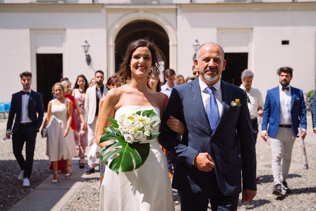 sposa padre invitati palazzo reale - matrimonio luis e giovanna milano