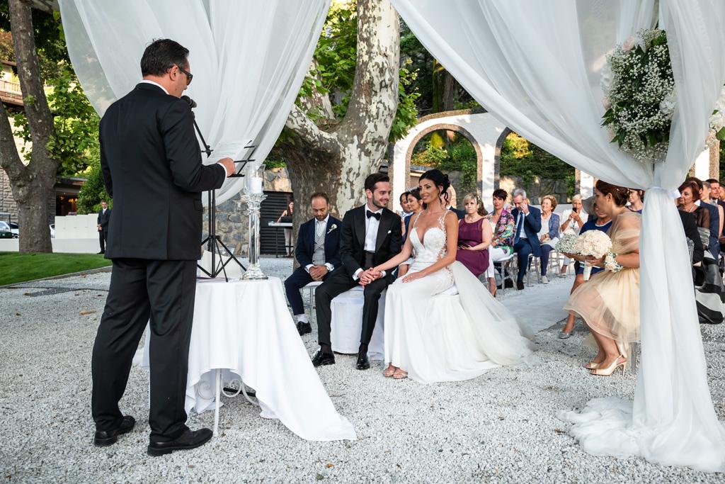 La cerimonia di matrimonio di Alex e Nicoletta al Mandarin Oriental sul Lago di Como