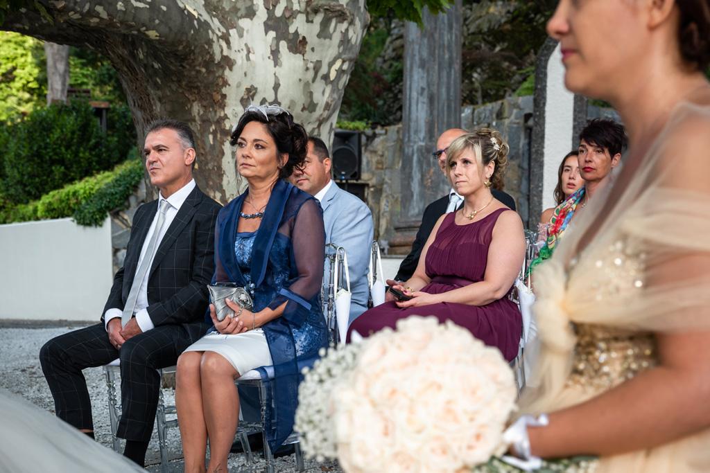 La mamma della sposa alla cerimonia