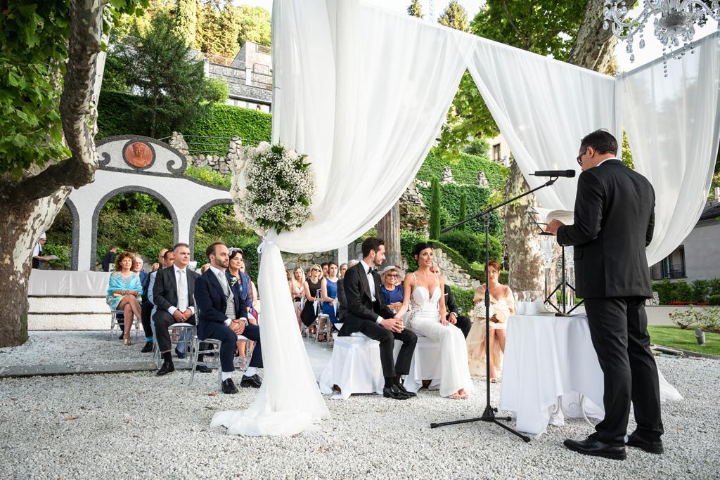 La cerimonia di matrimonio di Alex e Nicoletta al Mandarin Oriental di Blevio
