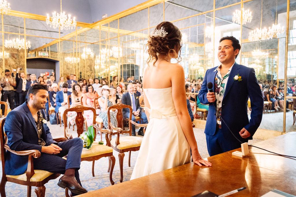 promesse sposo cerimonia palazzo reale - matrimonio luis e giovanna milano