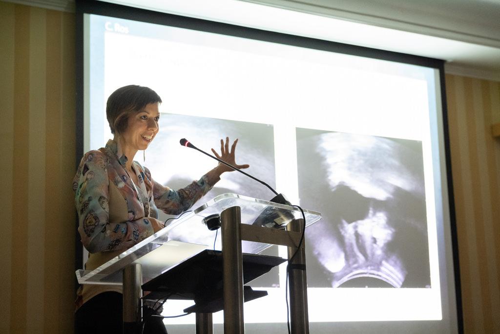 Una relatrice espone alcune questioni importanti ripresa da Alessandro della Savia fotografo di presentazioni aziendali