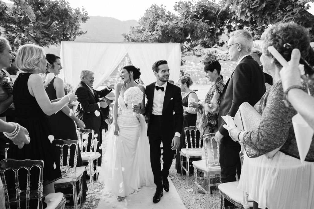 Alex e Nicoletta appena sposati