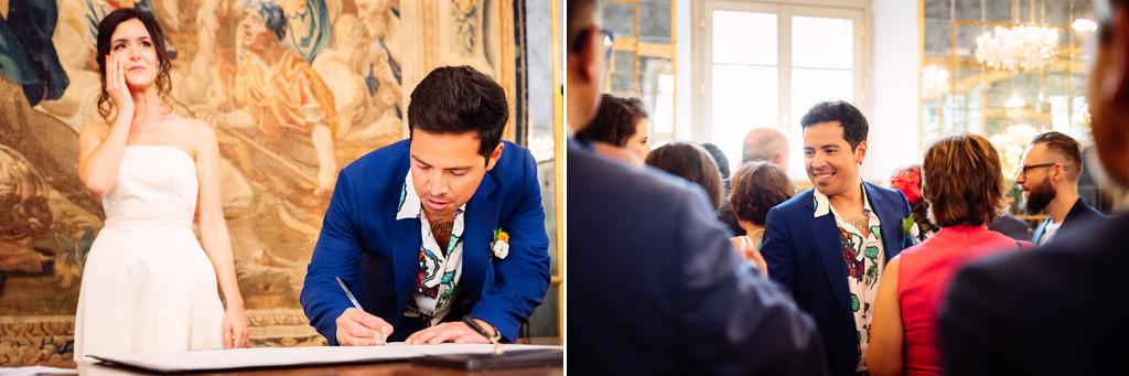 firme sposo e invitati cerimonia palazzo reale - matrimonio luis e giovanna milano