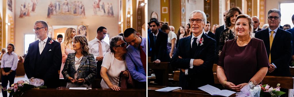 I genitori di Cristina e Andrea in chiesa