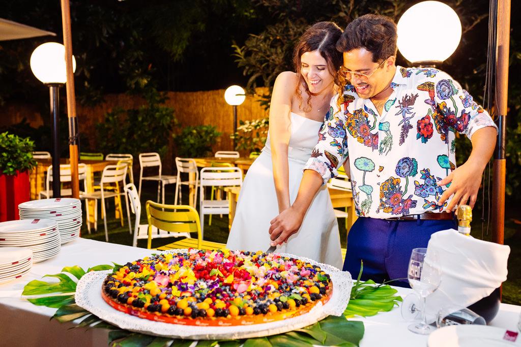 taglio della torta nuziale casa dei ciliegi ricevimento - matrimonio luis e giovanna milano