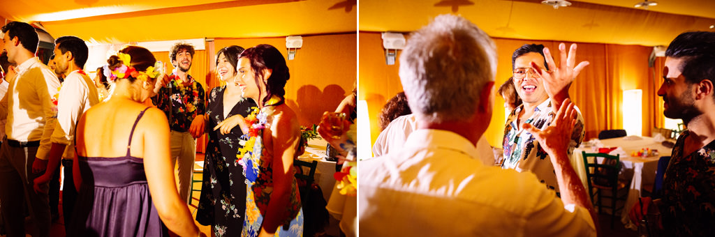 Gli invitati ballano al ricevimento di Luis e Giovanna