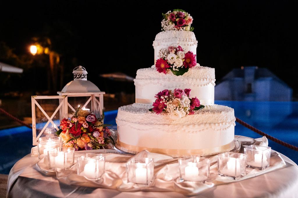 La torta nuziale di Cristina e Andrea