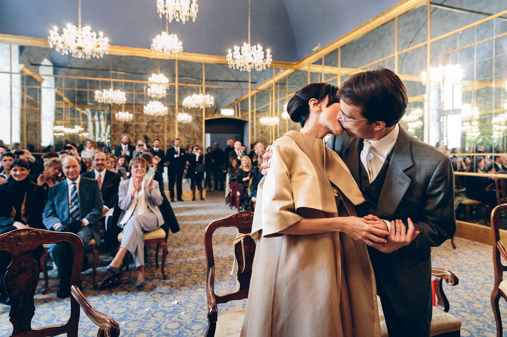 Foto Bacio Sposi Matrimonio Milano
