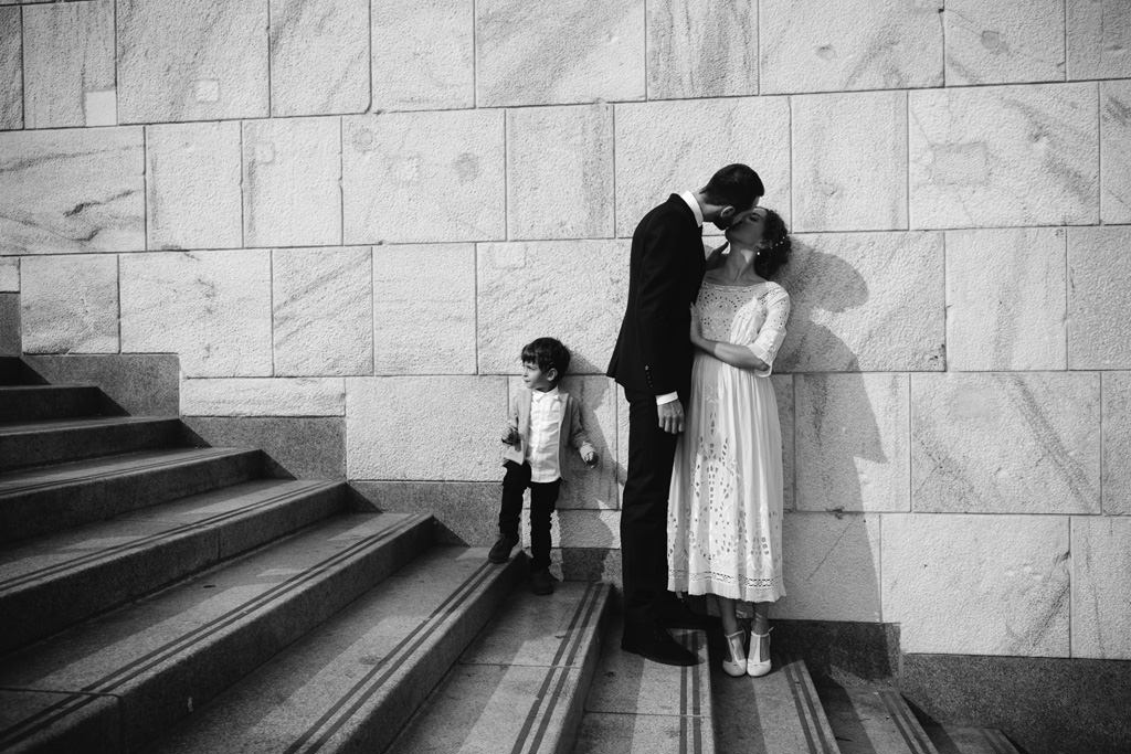 Bacio degli Sposi - Foto Matrimonio Milano