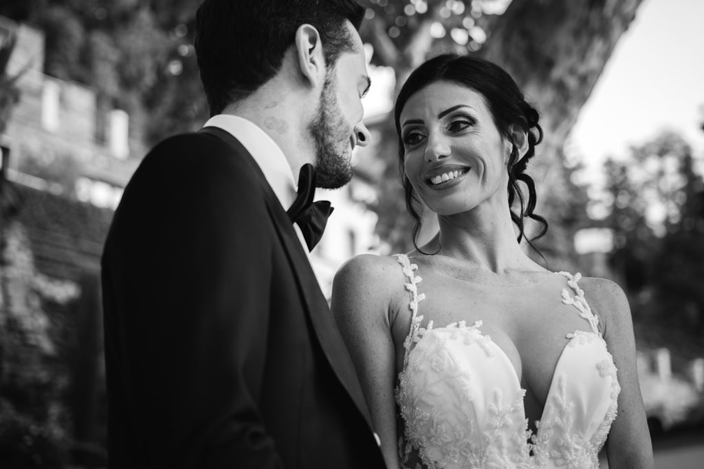 Sposi che Sorridono Foto di Reportage