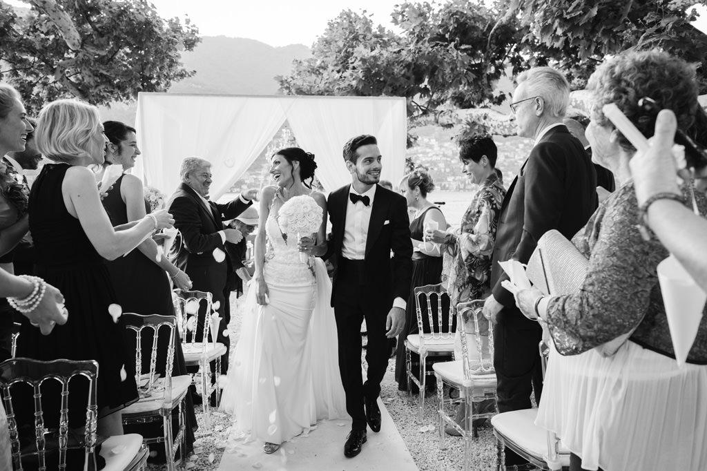 Uscita degli Sposi Foto di Reportage Matrimonio
