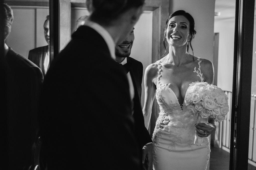 Sposa che Sorride Foto di Reportage Nozze Milano