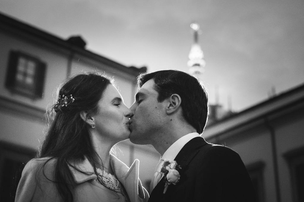 Bacio Sposi Reportage Matrimonio Milano