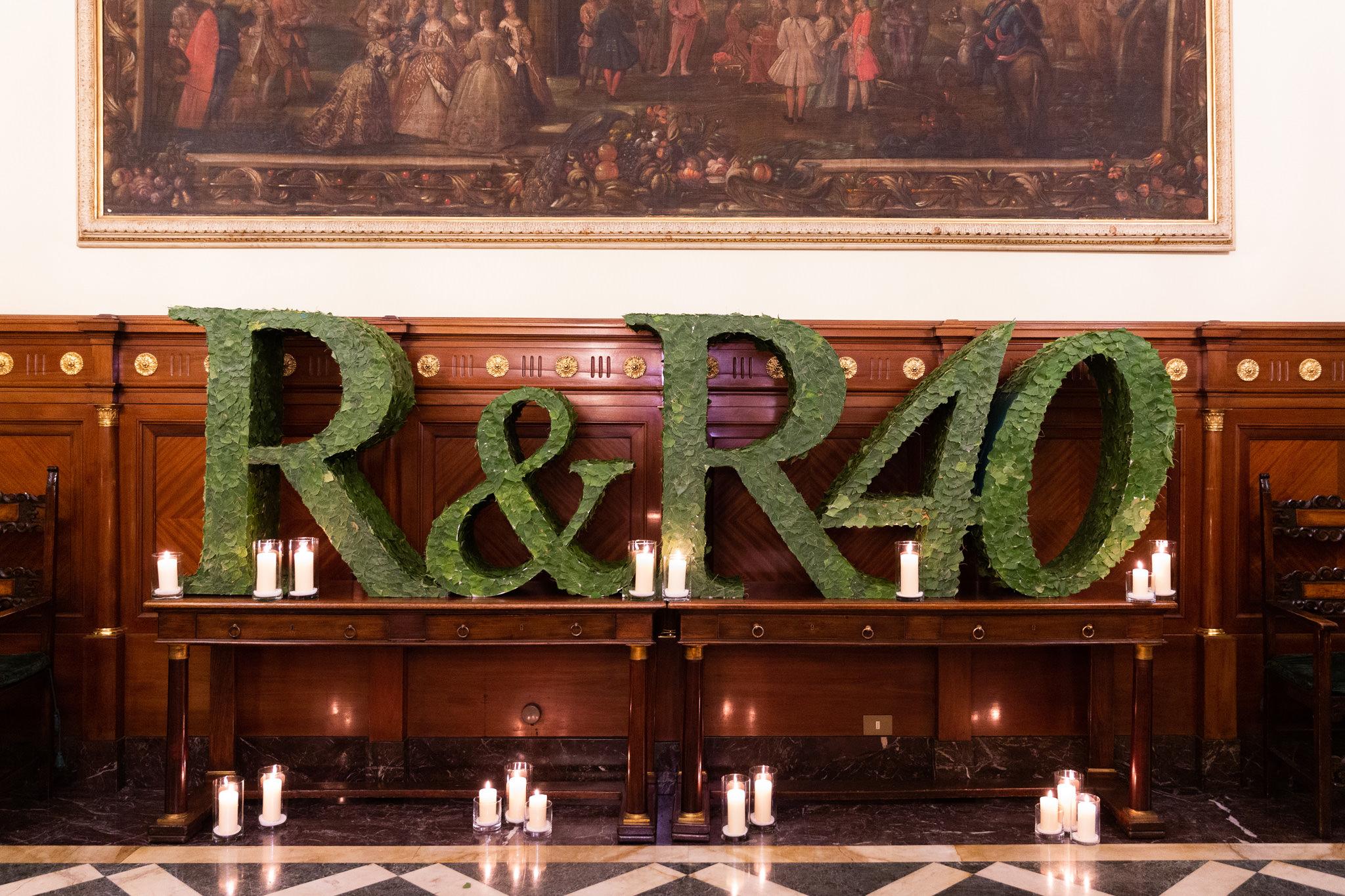 Il logo della serata per l'anniversario dei quarant'anni dello studio Rucellai e Raffaelli
