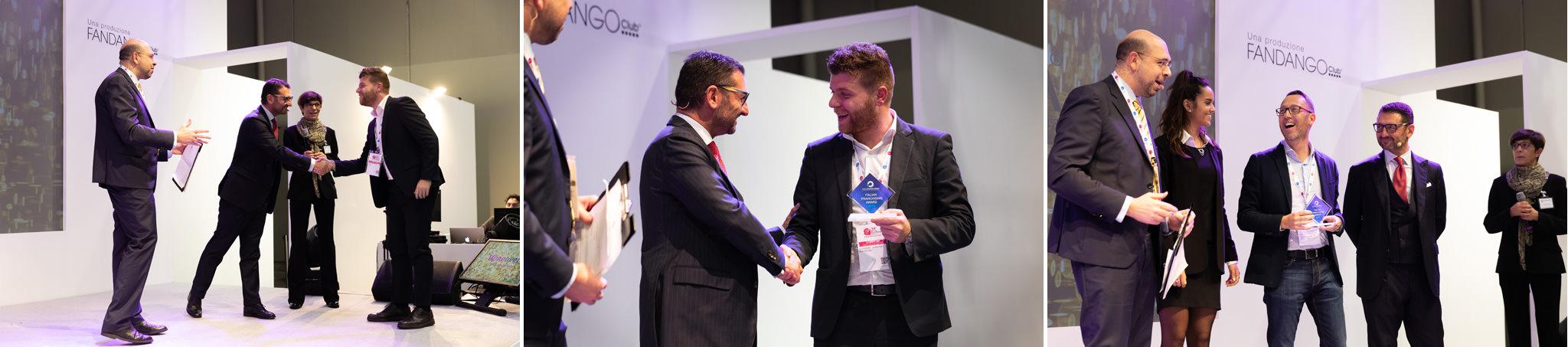 La giuria si congratula con i vincitori dell'edizione Assofranchising 2019